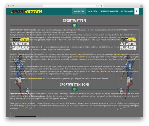 WP Casino Theme WordPress theme design - wetten.site