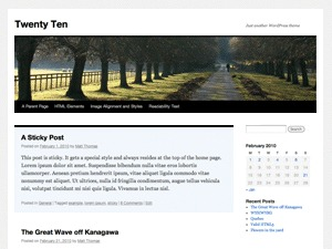 WP theme Twenty ten Child