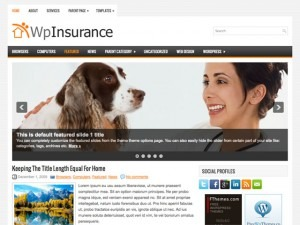 WpInsurance WordPress blog template