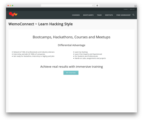WPLMS WordPress website template - wemoconnect.com