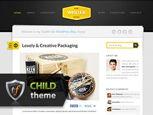 Writer Child theme WordPress