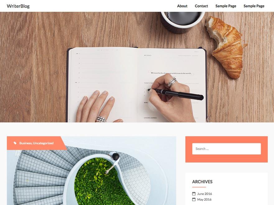 writerBlog free website theme
