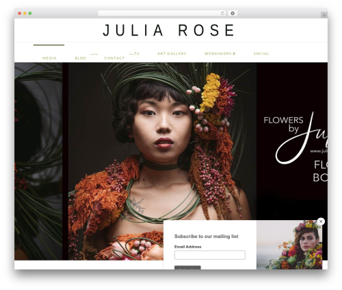 X best wedding WordPress theme - weddingflowersbyjuliarose.com
