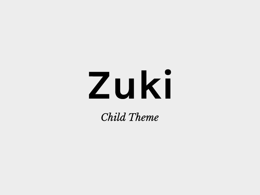 Zuki Child WordPress theme