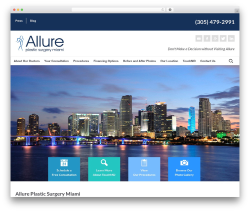 Allure WordPress Theme theme WordPress - miamiallure.com