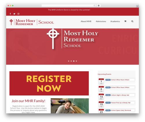 Avada best WordPress theme - mhrschool.com