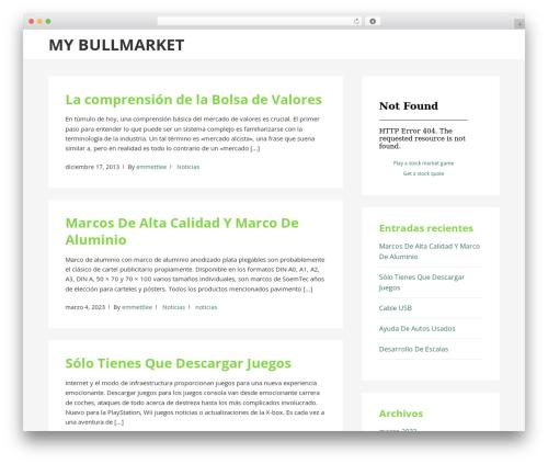 BasePress WordPress theme - mybullmarket.org