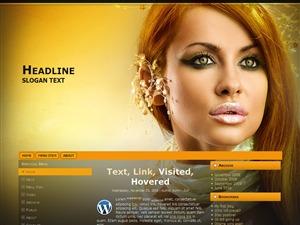Beauty Shot ad WordPress blog template