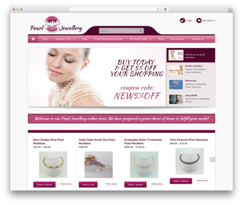 Bellissima best WordPress template - mhpearljewellery.co.uk