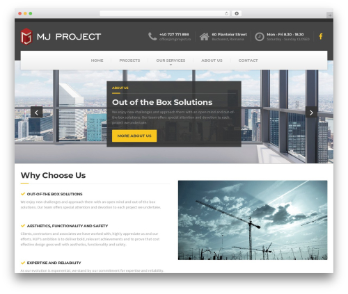 BuildPress WP Theme WordPress page template - mjproject.ro