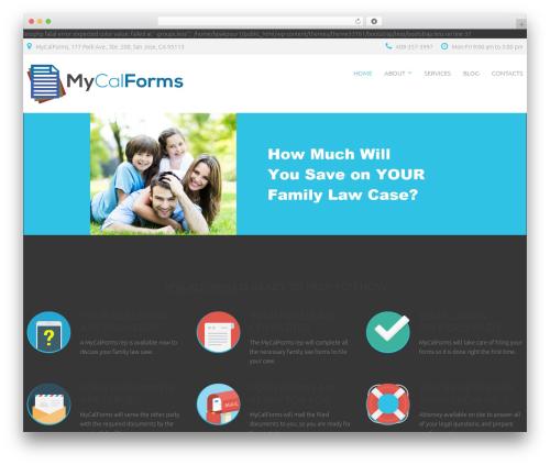 cherry theme WordPress - mycalforms.com