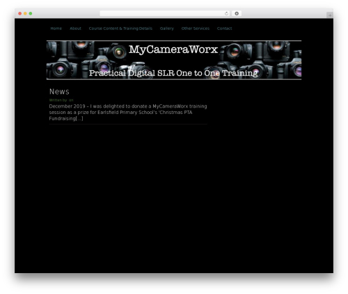 Clean Black WordPress theme - mycameraworx.co.uk