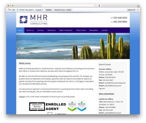 Customized best WordPress template - mhraccounting.com