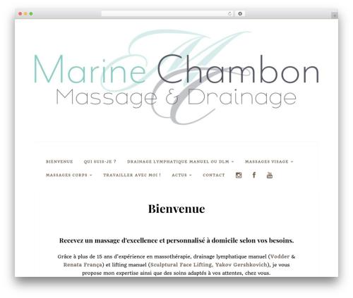 Datar best free WordPress theme - marinemassage.com