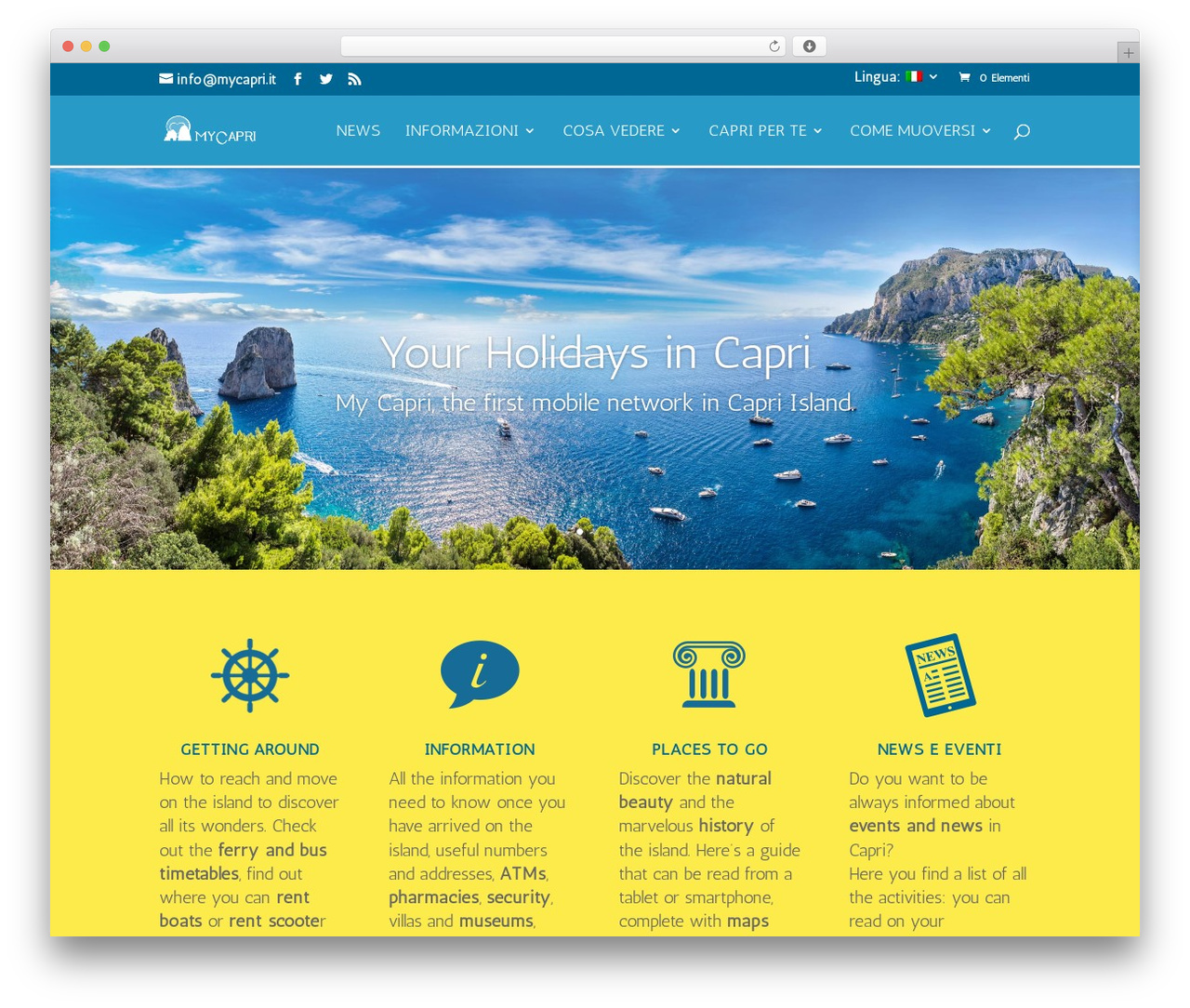 Divi premium WordPress theme - mycapri.it