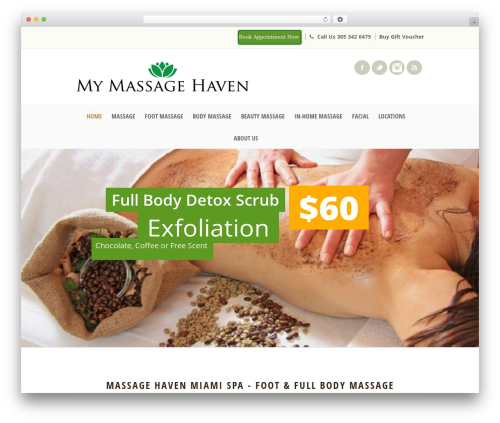 Dream Spa massage WordPress theme - mymassagehaven.com/fresh