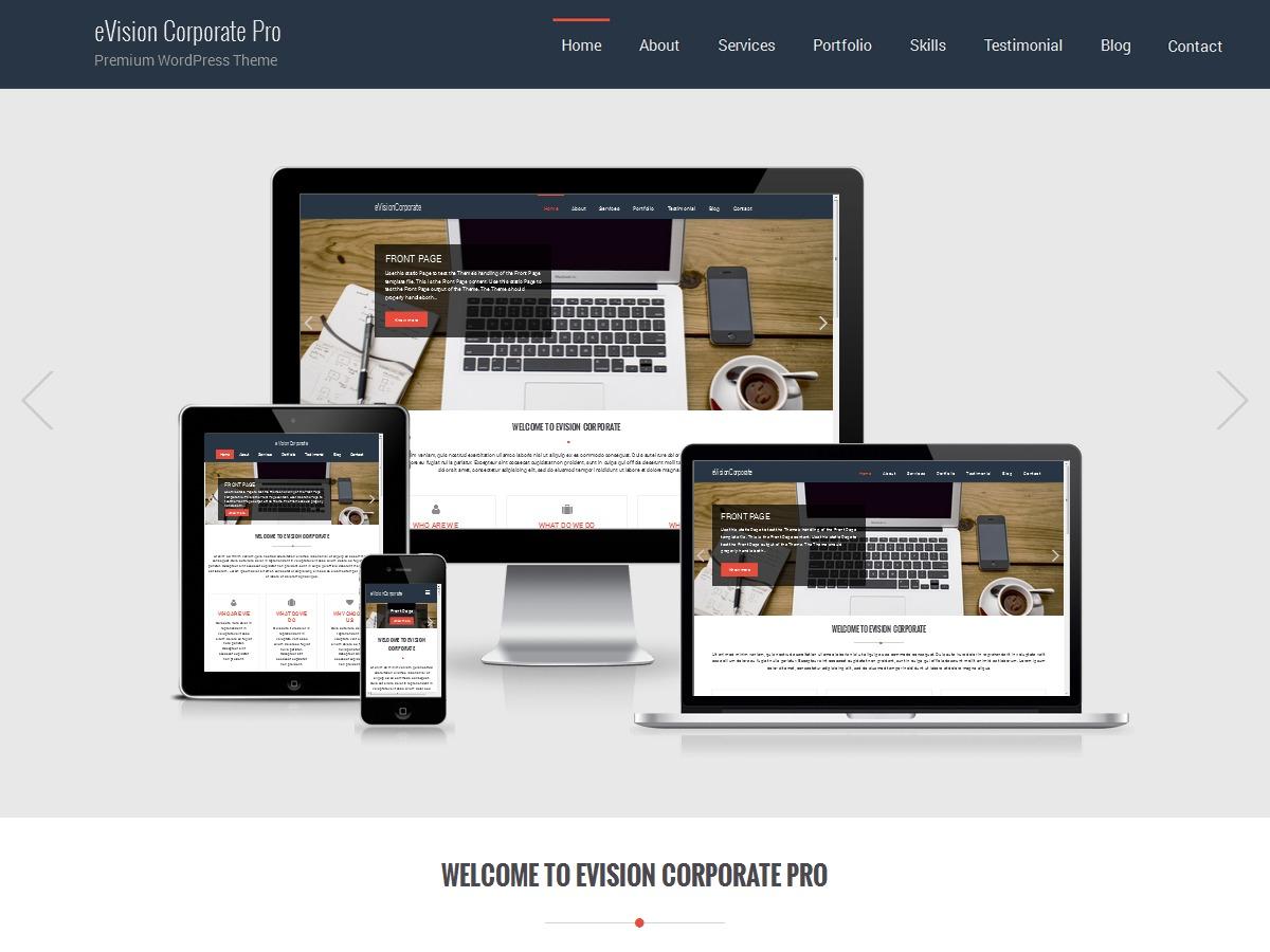 eVision Corporate Pro personal WordPress theme