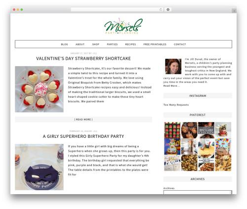 Fun WordPress Theme best WooCommerce theme - morselsparties.com