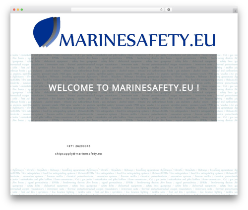 Litesite WordPress template - marinesafety.eu