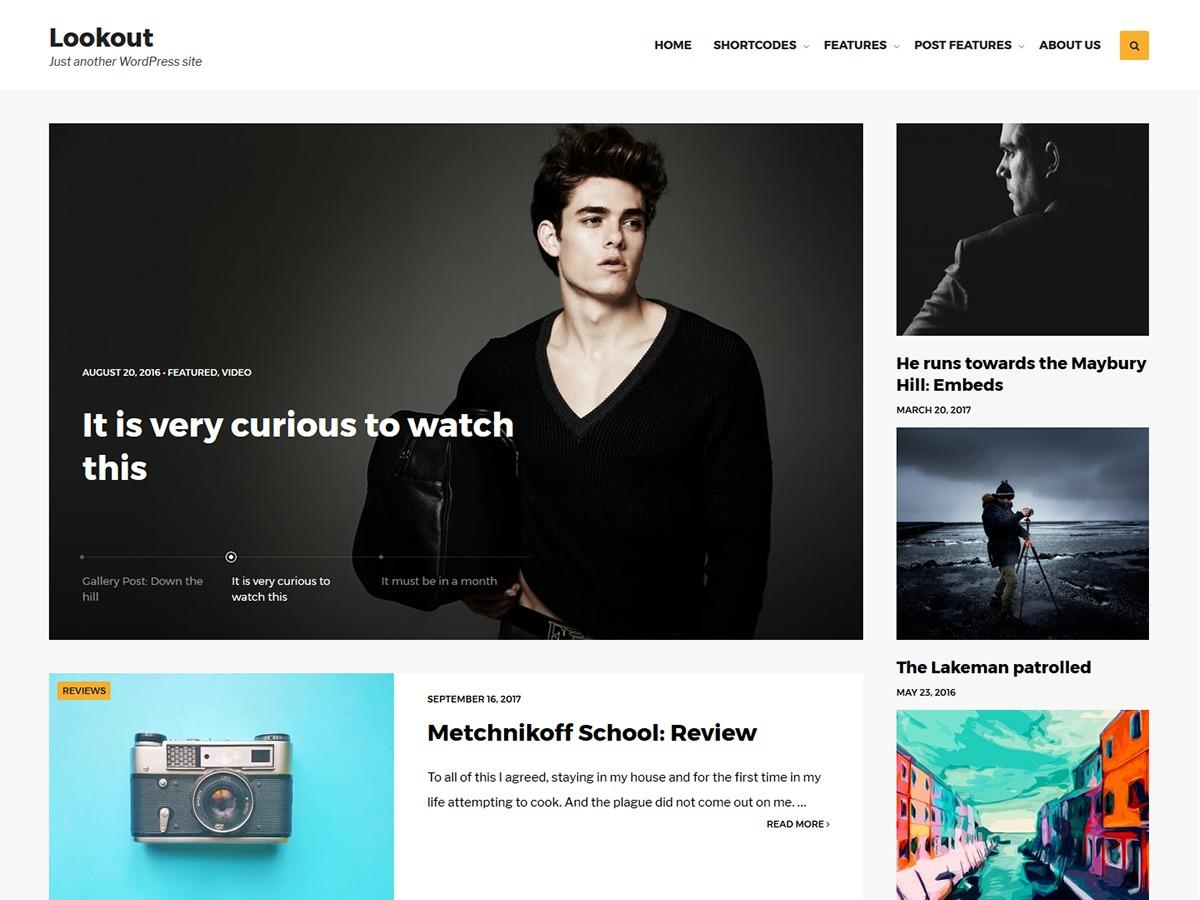 Lookout WordPress blog theme