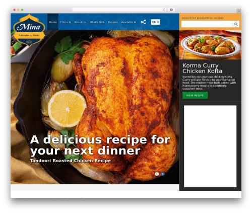 Mina WordPress theme free download - minahalal.com