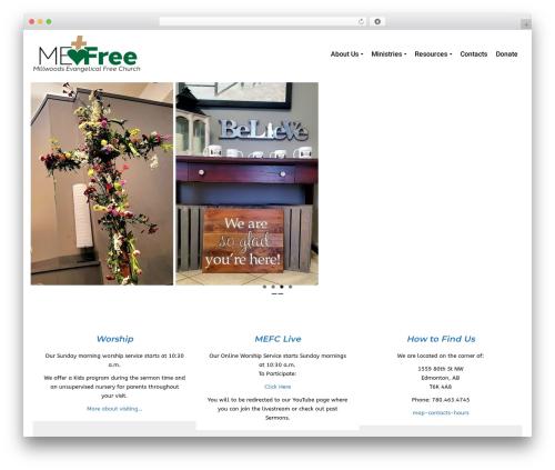 Pinnacle free WP theme - mefc.ca