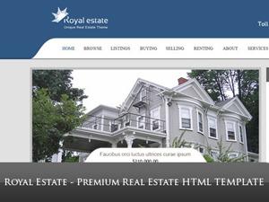 RoyalEstate (Share on Theme123.Net) WordPress real estate