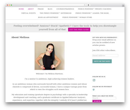 Theme WordPress Nectar - melissacatherineharrison.com