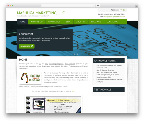 WordPress collision-testimonials plugin - mashugamarketing.com