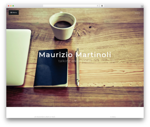 Typer WordPress theme design - mauriziomartinoli.it