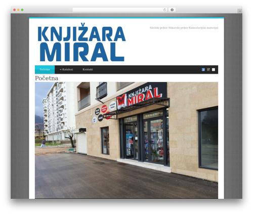 WordPress theme Blue Diamond - miralbar.me