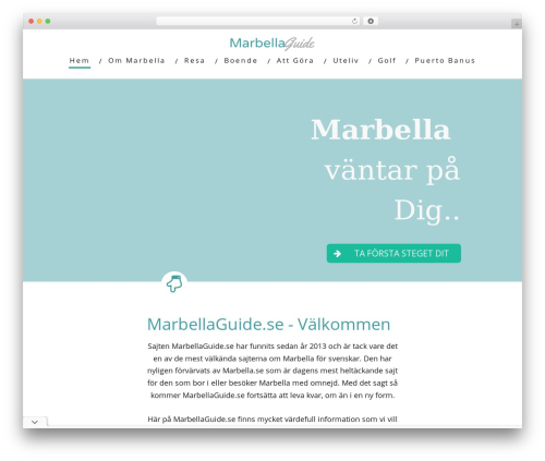WordPress website template Minus - marbellaguide.se