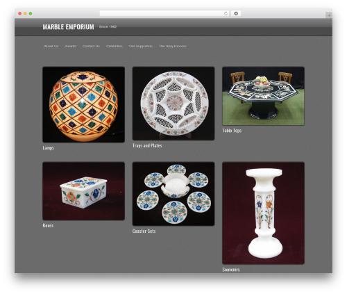 WordPress website template PhotoTouch - marbleemporium.com