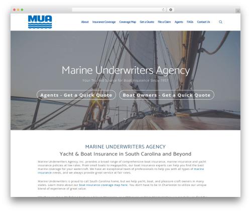 WordPress website template Salient - marineunderwriters.com