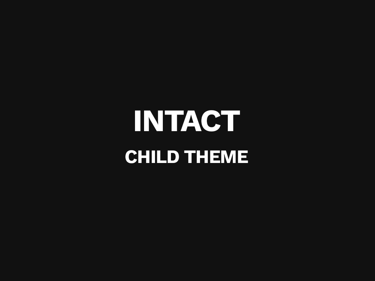 WP theme Intact Child