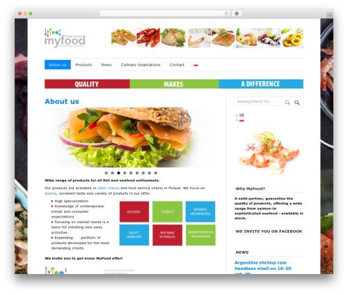 Free WordPress Polylang plugin - my-food.pl