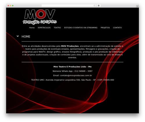 Best WordPress theme Black Label - movproducoes.com.br