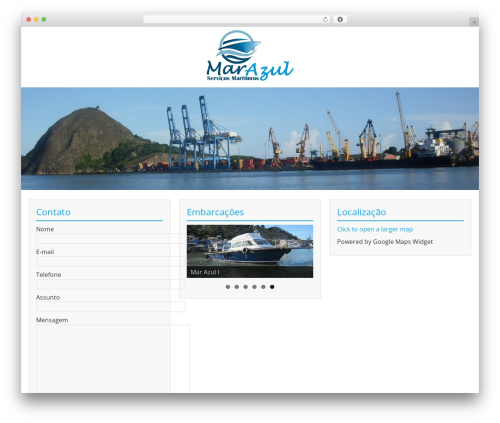 BlueGray best free WordPress theme - marazules.com.br