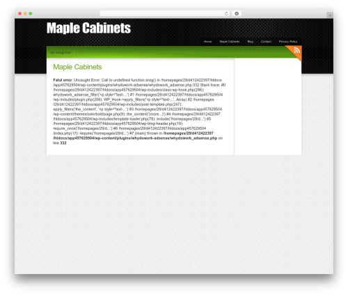 Colorbold theme WordPress - maplecabinets.org