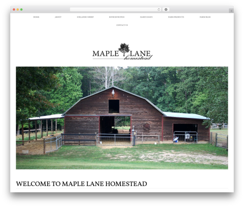 Healthy Farm WordPress template - maplelanehomestead.com