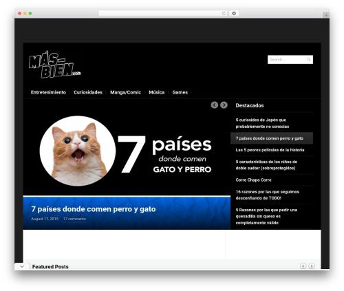 Magazinum theme WordPress - mas-bien.com