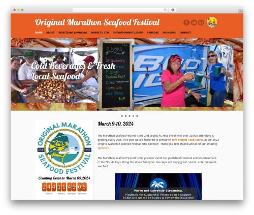 Free WordPress Calendar plugin - marathonseafoodfestival.com
