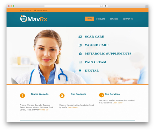 Medicate WordPress theme - mav-rx.com