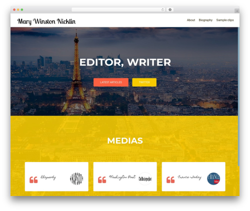 OnePirate WordPress theme free download - marywinstonnicklin.com