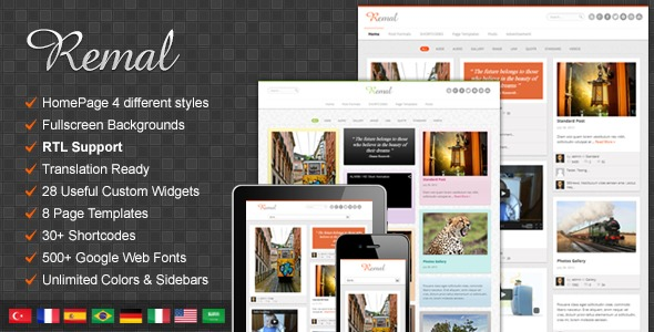 Remal   Shared By Themes24x7.com WordPress page template