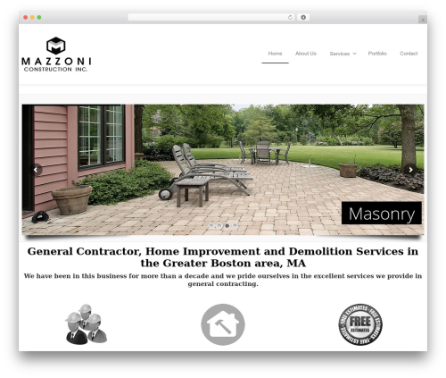 Theme WordPress Envision - mazzoniconstructioninc.com
