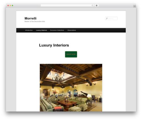 Twenty Eleven free WordPress theme - morrelli.com