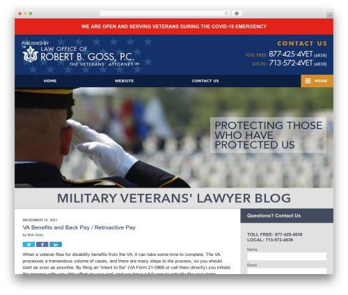Willow-Responsive theme WordPress - militaryveteranlawyer.com