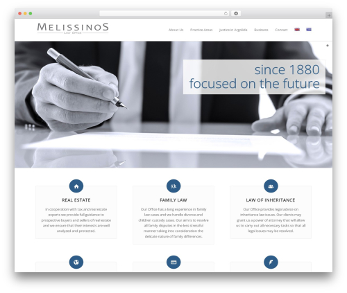 WordPress theme Enfold - melissinos-law.com