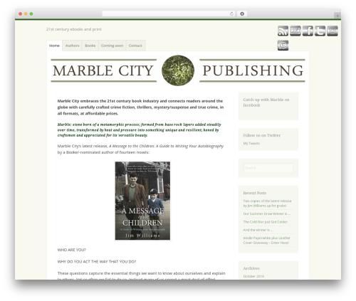 WordPress theme Misty Lake - marblecitypublishing.com